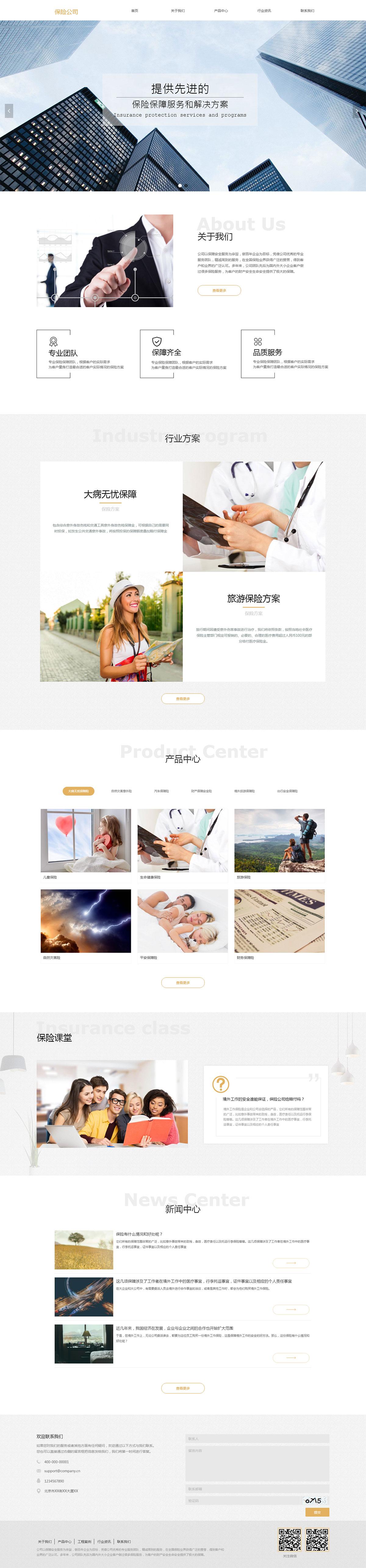 保险公司网站项目案例