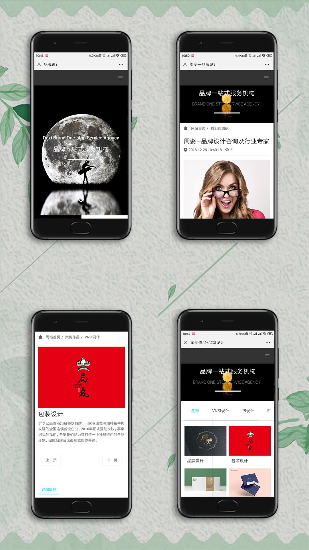 品牌设计手机网站制作案例