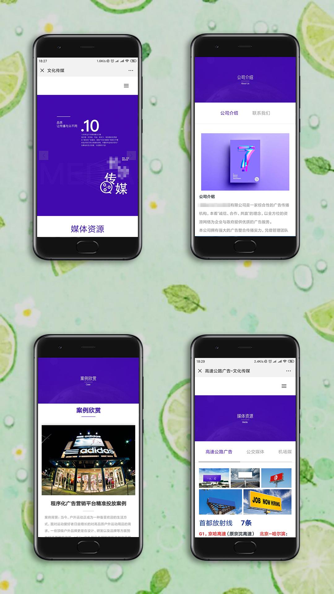 文化传媒手机网站制作案例