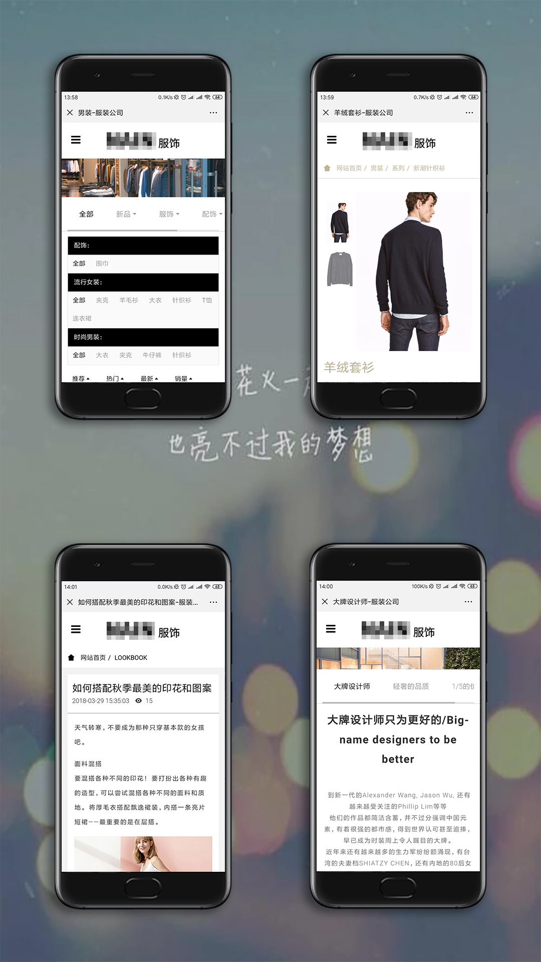 时尚服饰手机网站开发案例