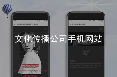 文化传播公司手机网站制作案例