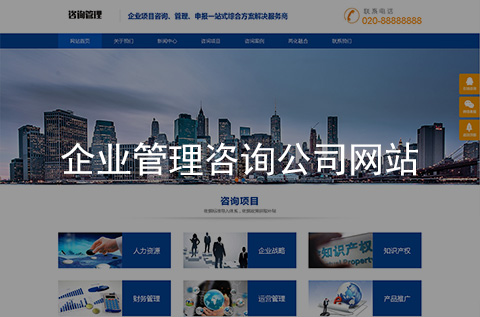 企业管理咨询网站建设案例