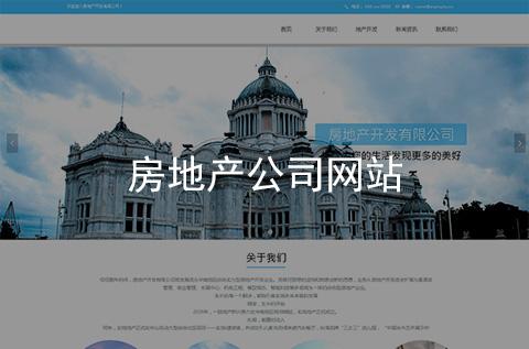 房地产公司网站建设案例