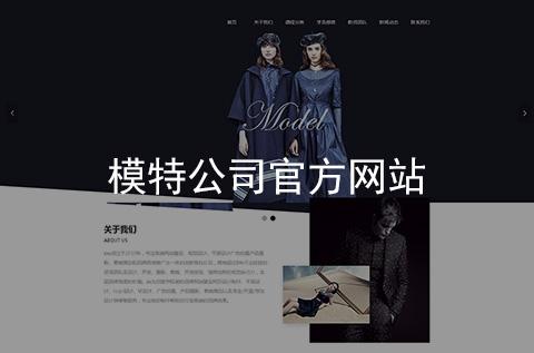 模特公司官方网站建设案例_项目案例