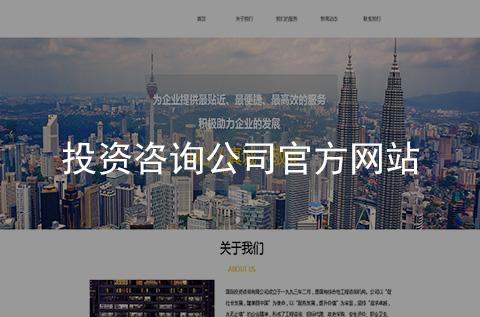 投资咨询公司网站建设案例