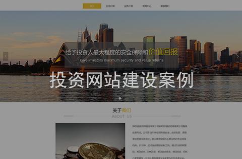 投资网站制作案例