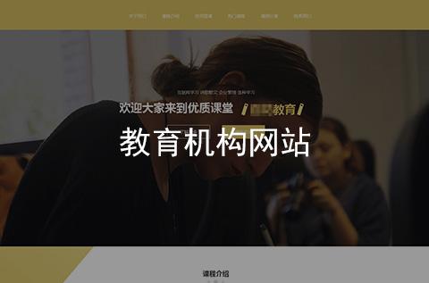 教育培训机构网站建设案例